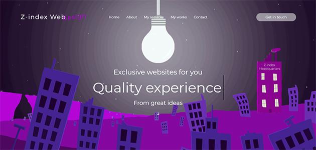 My works 4 - Z-index Web Design